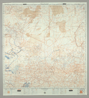 United States Air Force Aeronautical chart printed on both sides with the Niger River on one side and Tibesti on the other in red and blue on white background. The scale is 1:2,000,000 and includes nautical miles, kilometers and statute miles around the edges.