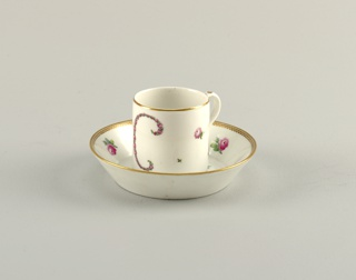 Saucer, Saucer with Floral Decor, 1774–1814