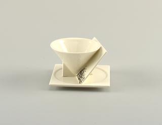 """""""Angle"""" Cup And Saucer, 1988"""