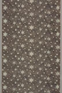 White snowflakes on gray background.