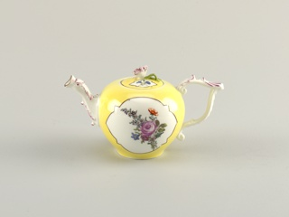 Teapot with Yellow Ground and Flowers Teapot