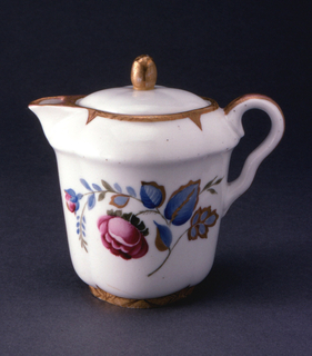Floral Decoration Cream Pitcher And Cover