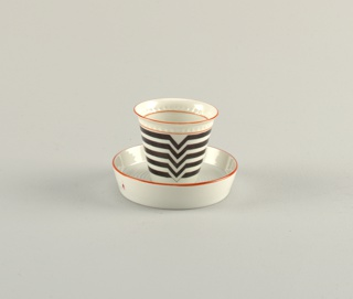 "Konus"" / ""Plus-Minus Cup And Saucer"