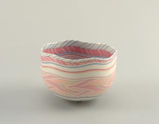 Hexagonal Pink Bowl
