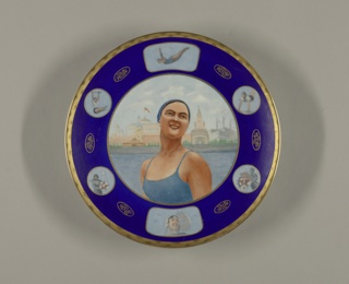 Woman Swimmer Plate