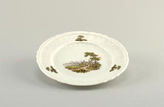 Plate with Pastoral Scene Plate, 1770–1780