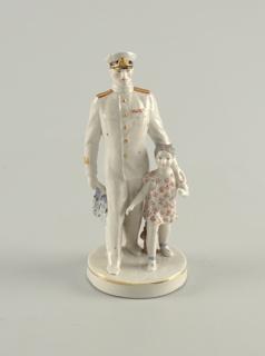 Navy Officer and Schoolgirl Figure