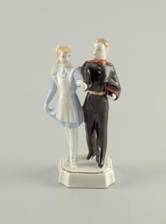 Girl and Cadet Dancing Figure