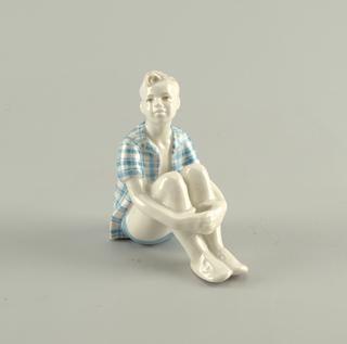 Seated Boy Figure