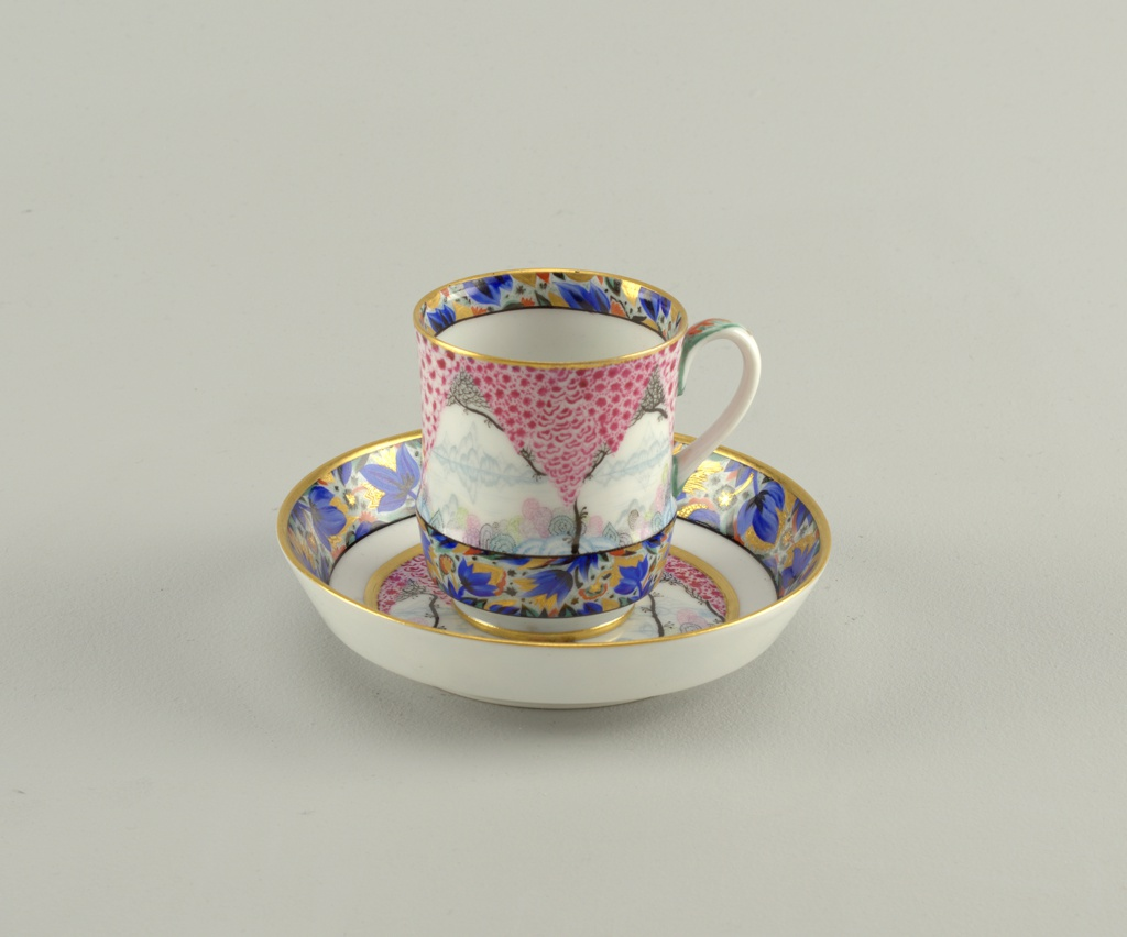 Ornamental Landscape Cup And Saucer