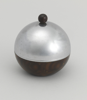 circular ashtray with domed cover