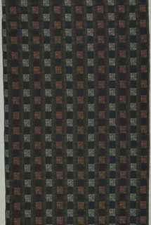 Brown and black textured fabric.