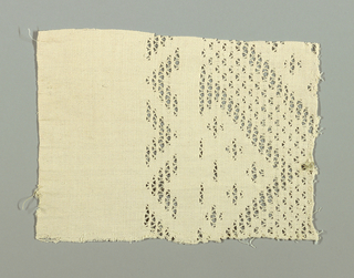 Fragment with a pattern of open slits.