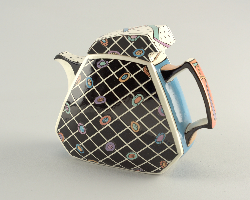 Black Lattice Teapot And Lid, 1984