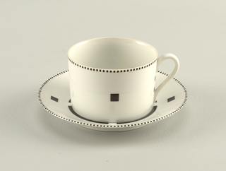 Tuxedo Cup And Saucer, 1987