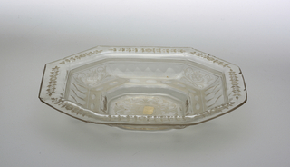 octogonal rectangular shaped bowl