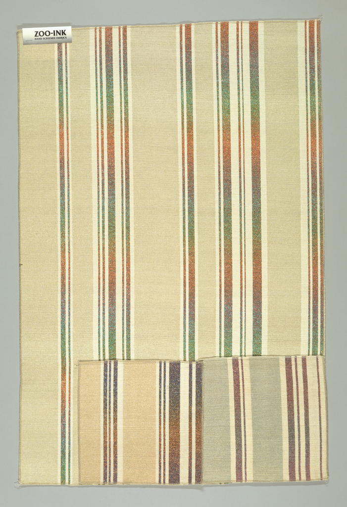 Sample, Artesia stripe, 1987–1988