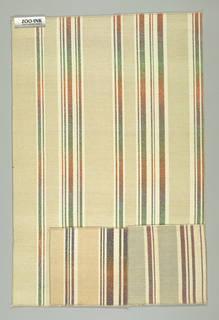 Sample, Artesia stripe, 1987–1988