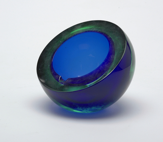Blue-green hemispherical form.