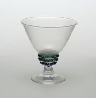 """Zen"" table setting Goblet, 1988"