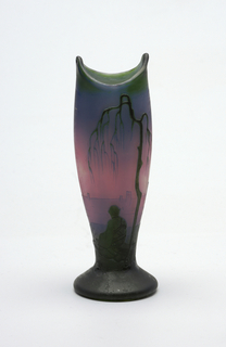 red, chinoiserie Vase