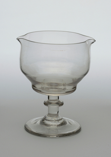 footed mixing glass