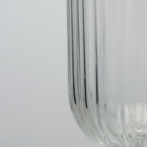 Water goblet; Ribbed surface