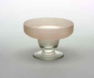 Light pink frosted glass; sherbert or compote
