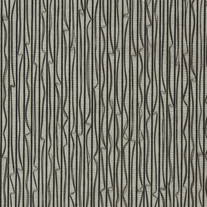 Non-woven openwork fabric with fine black verticals, alternate ones irregularly meandering
