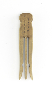 Patent Model For A Clothespin, Patent No. 47,223 (USA), April 11, 1865
