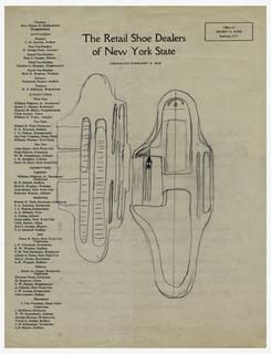 Sketch For Brannock Device (USA), ca. 1920s