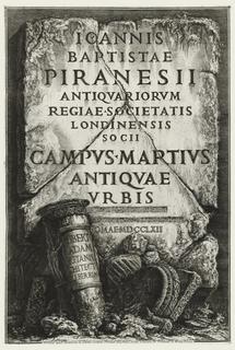 Book, Frontispiece, with Dedication to Robert Adam, in Il Campo Marzio dell'Antica Roma