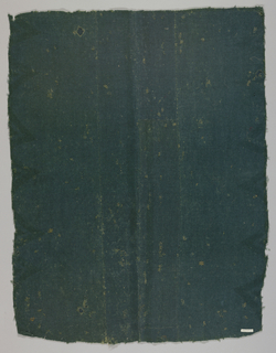 Panel of dark blue-green wool twill with a thick, coarse texture. No selvages.