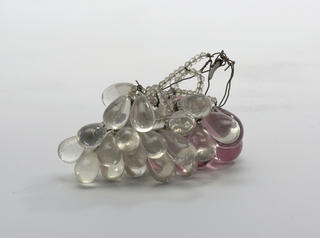 A pair of glass grape bunches