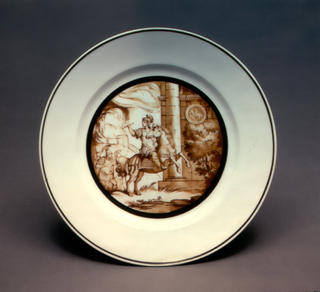 Classical Scene with Horseman Plate