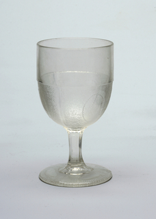 Three clear ovals in goblet