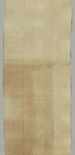 Cream-colored pineapple fiber with a fine check of white cotton.