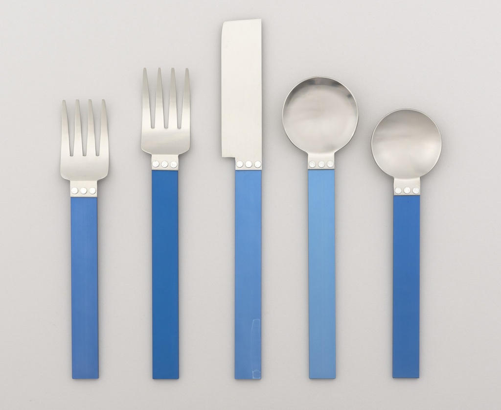 Electra Blue Flatware Set, 1986