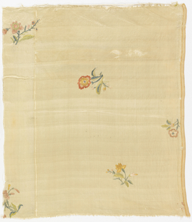 Fragment with embroidered flowers.