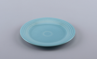 Large blue plate.