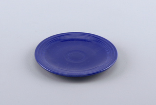 small plate, dark blue
