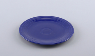 Large dark blue plate.