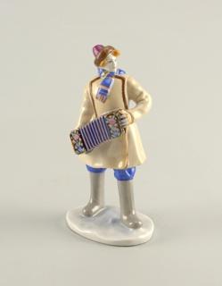 Accordion Player Figure