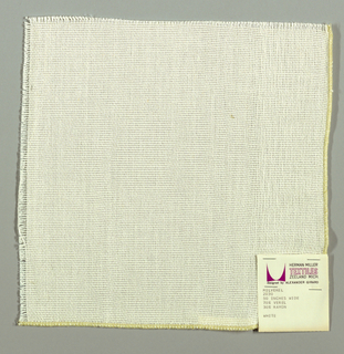Plain weave in white. Slightly loose weave structure. Number 2030.
