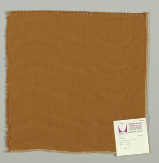 Plain weave in sienna brown. Slightly loose weave structure. Number 2025.