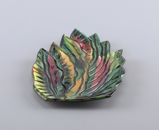 Leaf shaped dish.
