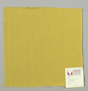 Plain weave in dark yellow. Slightly loose weave structure. Number 2027.