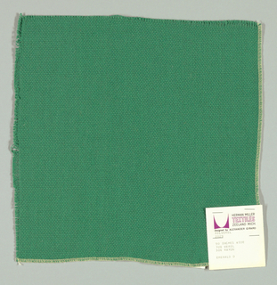 Plain weave in dark green. Slightly loose weave structure. Number 2029.