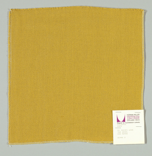Plain weave in gold. Slightly loose weave structure. Number 2028.