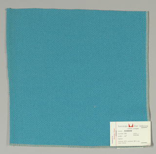 Plain weave with doubled warps and wefts in turquoise. Weave structure adds a subtle surface texture. Number 286.